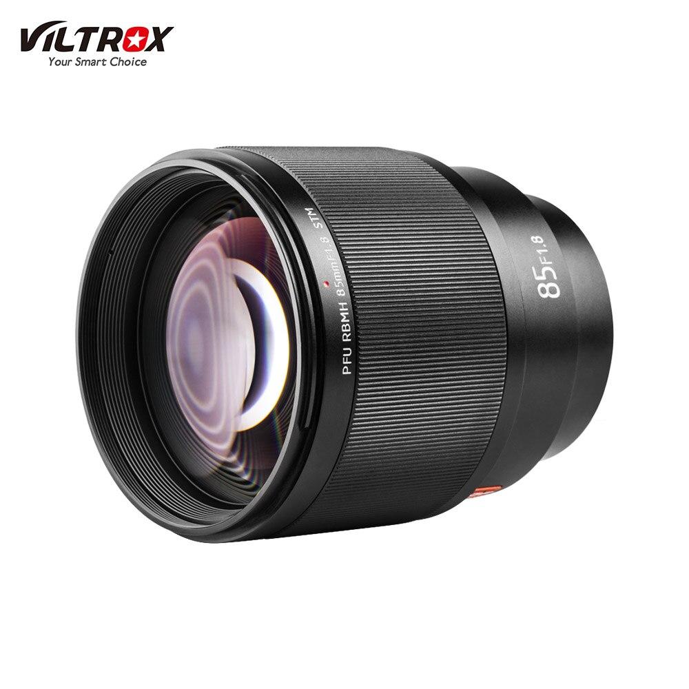 Viltrox 85mm F1.8 STM objectif de caméra professionnel avec pare-soleil Support AF Auto Focus caméras photographie pour Sony A7 SeriesA6500S