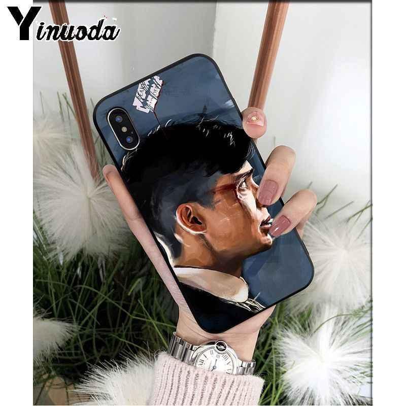 Yinuoda Peaky بليندرز توماس شيلبي تي بي يو لينة جراب هاتف لابل آيفون 8 7 6 6S Plus X XS MAX 5 5s SE XR 11 11pro ماكس غطاء