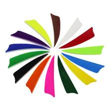 2.5 polegada seta turquia penas natural flexching ala direita para alvo caça setas 50 pacote/lote