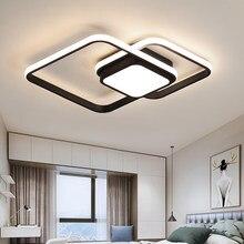 Lámpara de techo para dormitorio, moderna, minimalista, blanca, negra, para comedor, estudio, cocina, muebles, decoración creativa para el hogar, accesorios de iluminación Led