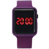 2020 homens mulheres led relógios pulseira de silicone relógio eletrônico único relógio quadrado esporte correndo relógio de pulso presentes relogio masculino 5