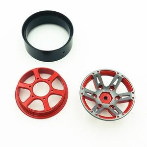 Image 4 - 4Pcs Rc Rock Crawler Felge 1,9 Zoll Beadlock Für 1/10 Axial Scx10 90046 Tamiya Cc01 D90 D110 Tf2 traxxas Trx 4