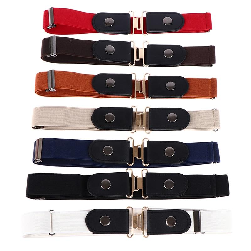 1PCS Unisex Jeans Pants Buckle Stretch Belt Belt Women Fashion Invisible Elastic Waist Belt