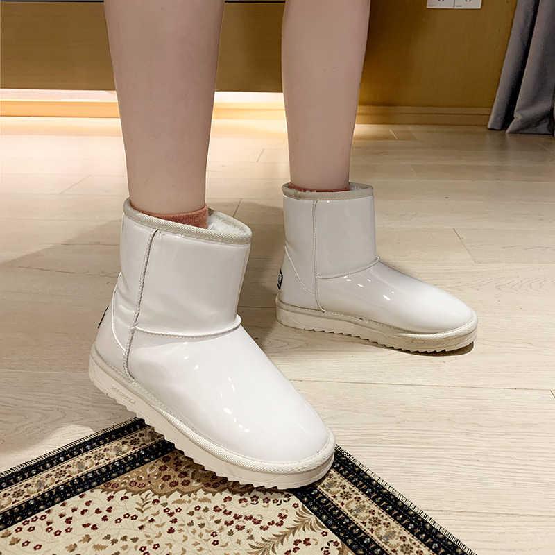 ผู้หญิงหิมะรองเท้าบูท Glitter ผู้หญิงใหม่อบอุ่นสั้น Plush Soft สุภาพสตรีข้อเท้า BOOT ฤดูหนาวขนสัตว์ Bling แพลตฟอร์มรองเท้าสบายๆหญิง