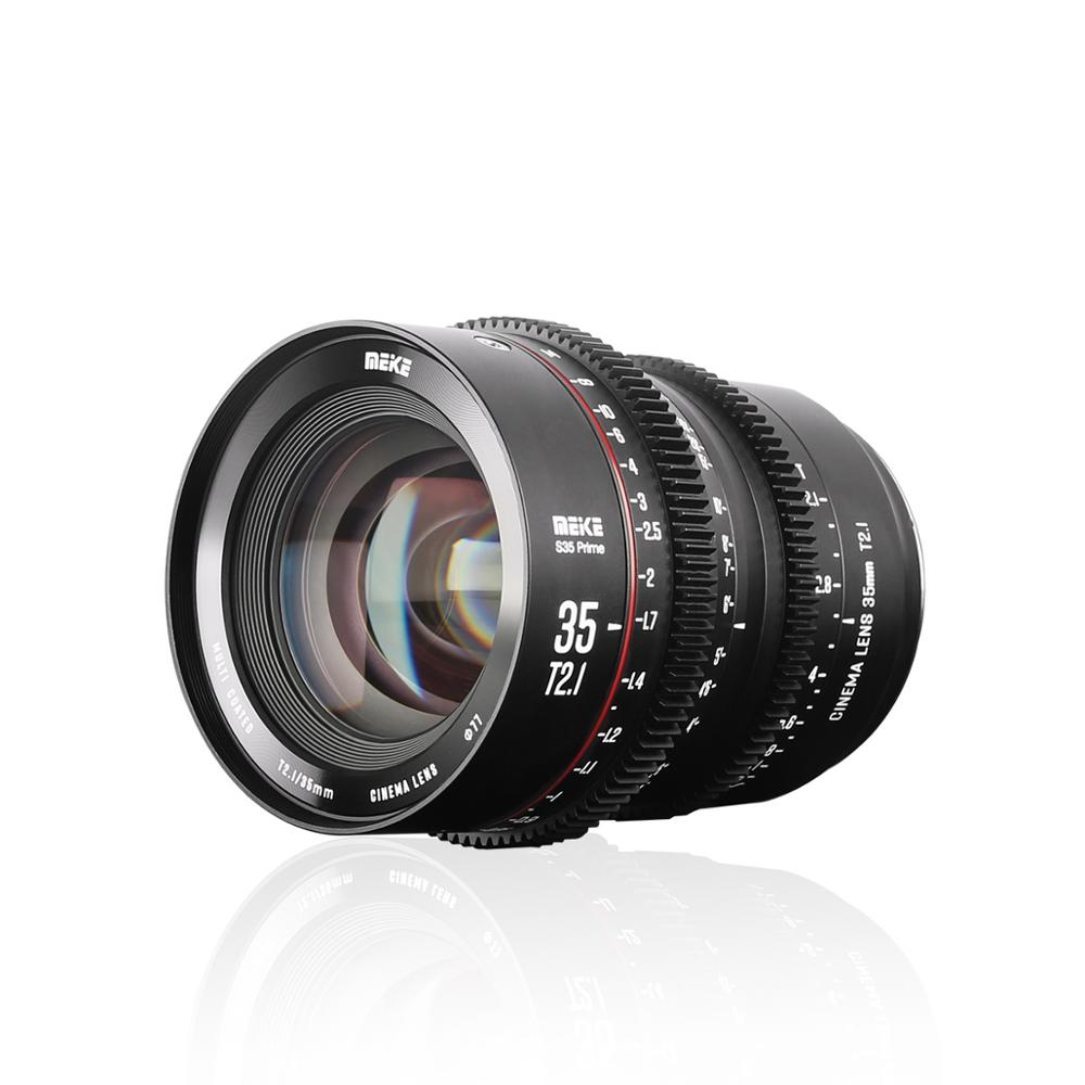Meike Prime 35mm T2.1 Super 35 Frame Cinema Camera Systems for Canon Cameras with EF-Mount