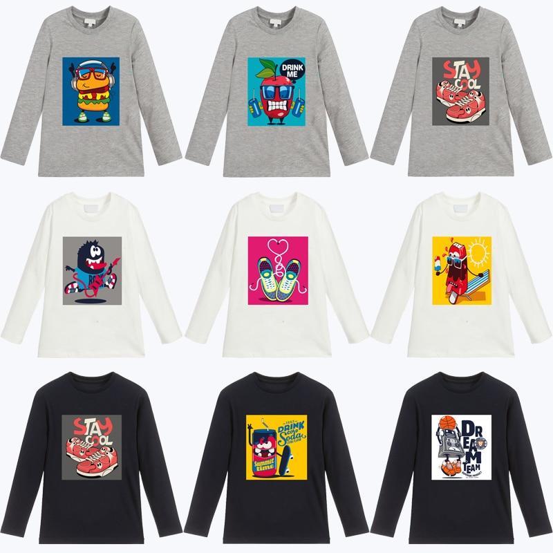 Boys T Shirt For Girls Spring Autumn Long Sleeve Fashion Car Cartoon Print Children 39 s T Shirt Girls Tops Kids Shirt Clothes 1 10 in T Shirts from Mother amp Kids