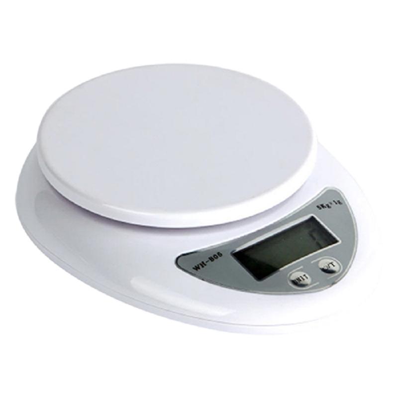 New 5kg 5000g 1g Portable Digital Kitchen Food Diet Postal Scale Electronic Weight Balance White 2020