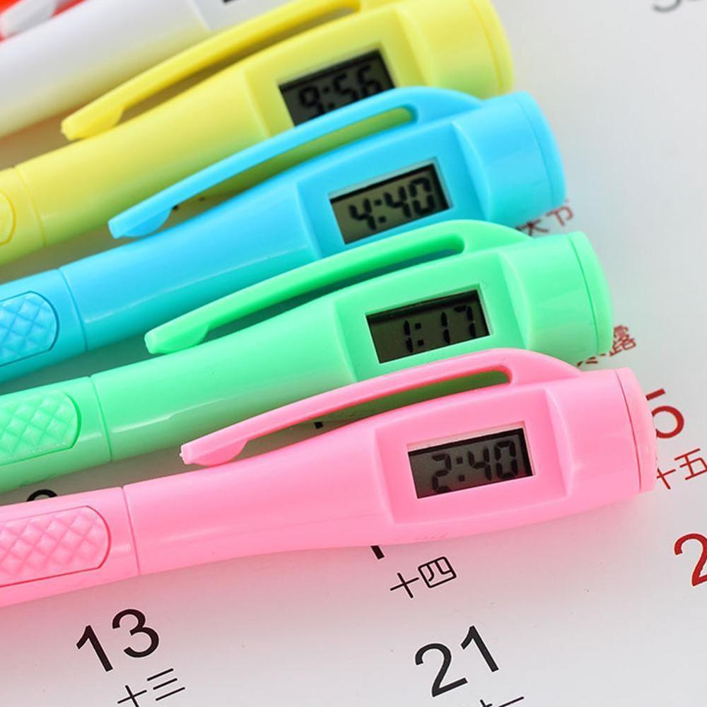 Electronic Watch Test Test Pen Electronics Clock Ballpoint Student Civil Servant To Work In An Office Specialpurpose Ball Pen