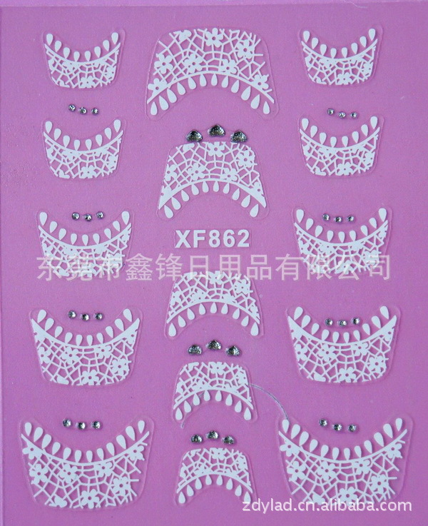 Manufacturers Direct Selling XF Nail Sticker/French Nail Sticker/Thousand-Selectable/A From The Grant/XF862