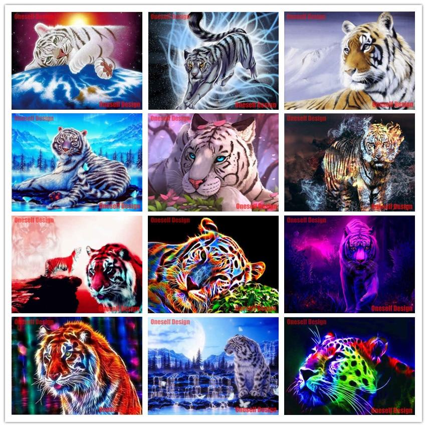 Большой diy Алмазная картина Полная площадь животных 5d алмазная вышивка распродажа Тигр diy Алмазная вышивка полный набор тигр Рождественски...