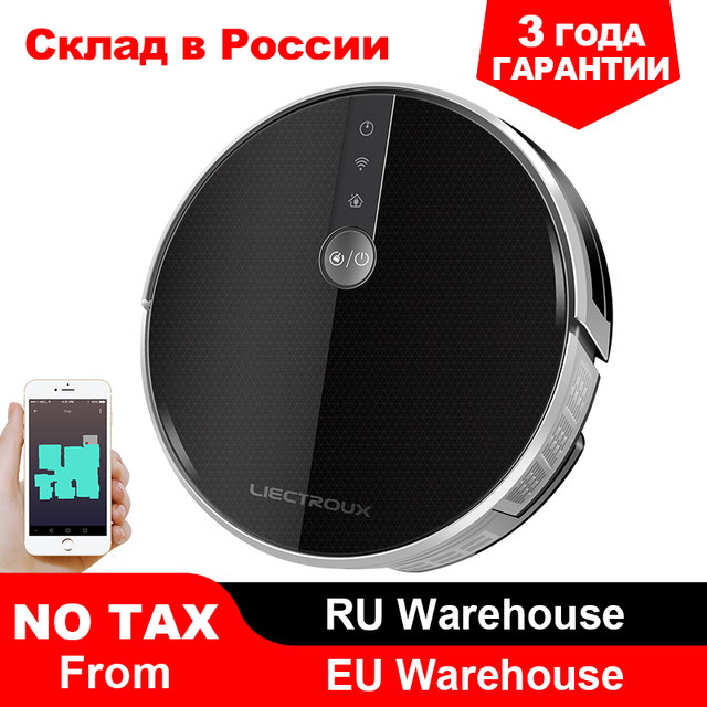 $ US $212.64 2020 Smartest LIECTROUX Robot Vacuum Cleaner C30B, 3000Pa Suction, Map navigation with Memory,Wifi APP, Big Electric Water tank