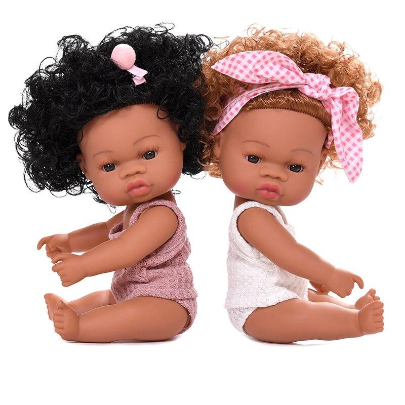Sommer Baby Puppe Schwarz Baby Lebendig Puppe Lebensechte Echt Baby Afrikanische Silikon Reborn Bebe Puppe Schwarz Baby Born Puppe Afrikanischen puppen