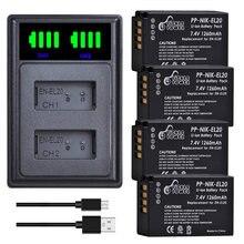 Kit de chargeur de batterie pour Nikon, EN-EL20 mAh, EN EL20 EN EL20a, Coolpix P1000, Nikon 1 J1 J2 J3, S1 1 V3, Nikon 1 AW1, 1260