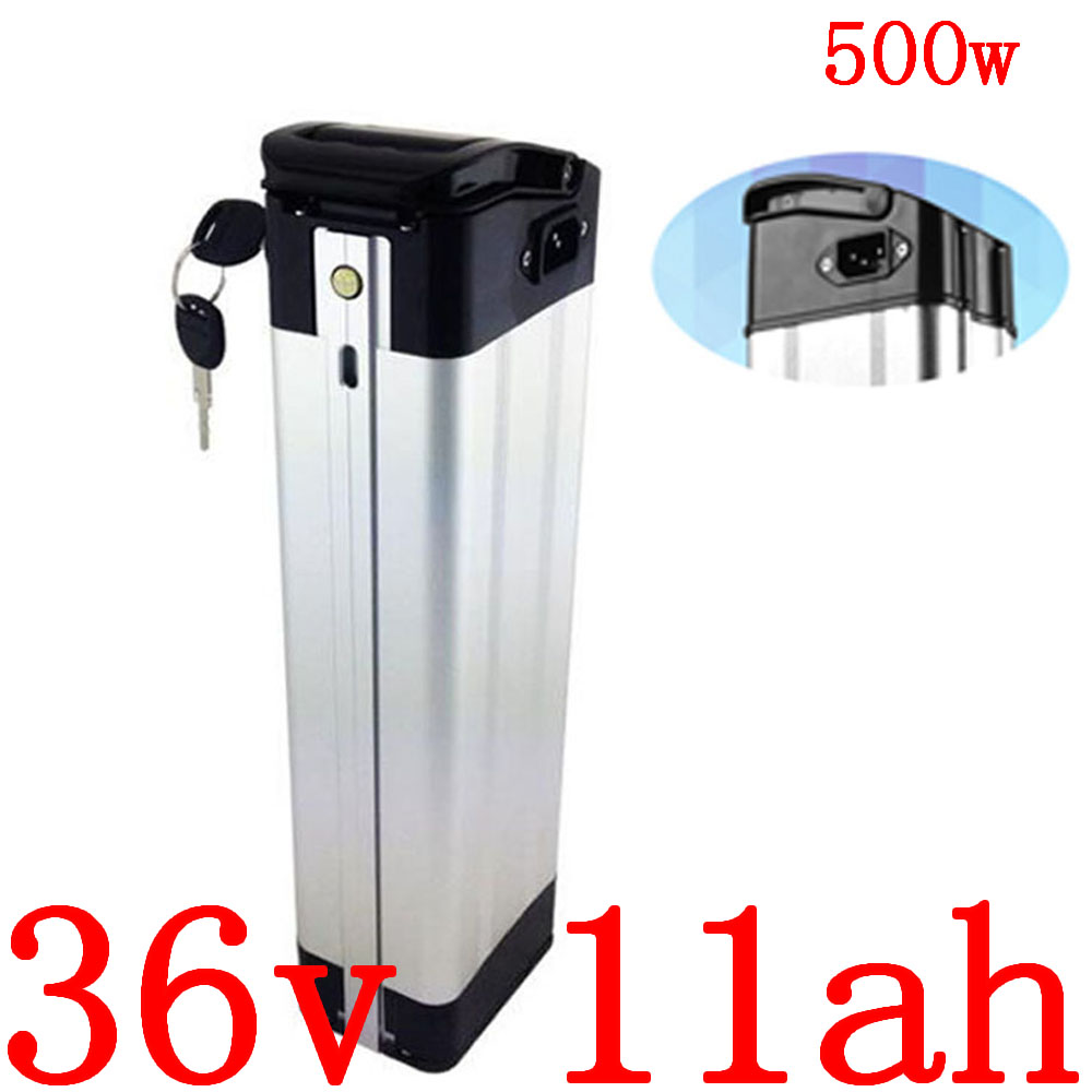 36V Electric Bike Battery 500W 36V 11AH Ebike Battery Pack 36v 8ah 9ah 10ah 11ah 12ah 13ah Lithium ion Battery with 2A charger image