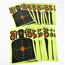 20PCS Realistic Shooting Targets Splatter Adhesive Target Blossom Man Silhouette Stickers for  Hunting