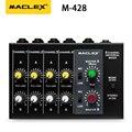 Maclex M428 ультра-компактный низкий уровень шума 8 каналов Металл Моно Стерео Аудио Звук микшер с адаптером питания кабель Бесплатная доставка