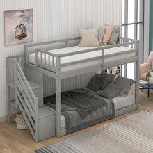 Yatak odası mobilyaları merdiven e n e n e n e n e n e n e n e n e n e-Over-Full ranza çekmece depolama koruma rayı ranza çocuk yatak takımı ev yatak odası için