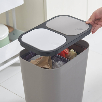 Classification Trash Can Creative Home Livingroom Covered Thicken PP Buckets with Lid Kitchen Separable Wet Dry Waste Bins