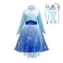 Anna Elsa2   Dress For Girls Christmas Cosplay Costume Kids Birthday Party Dresses Girls Princess Dress Childr baby girls christmas halloween costume witch vampire cosplay tutu dress kids princess tulle dress girl festival birthday dress