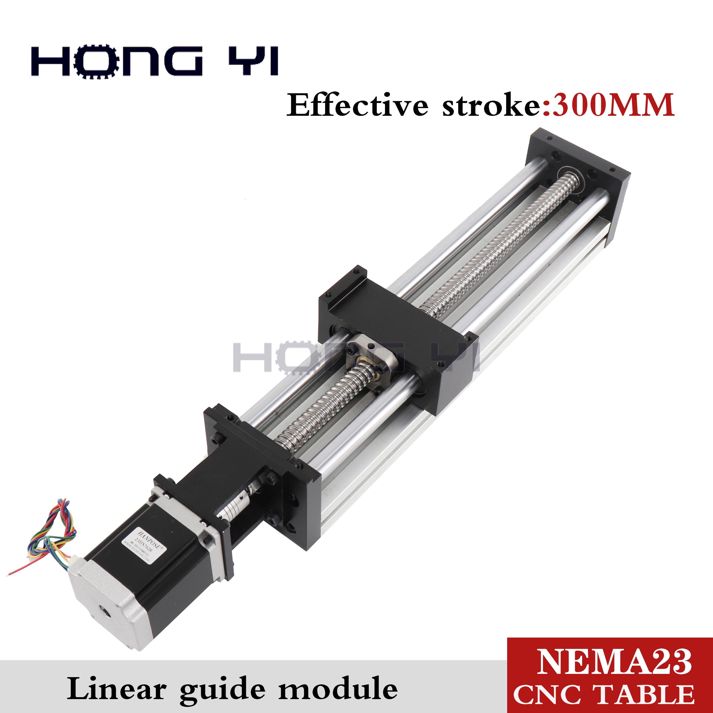 High Precision Linear Modules Effective Stroke 300mm Ball Screw SFU1605 Linear Bearing NEMA 23 Stepper Motor For CNC Table