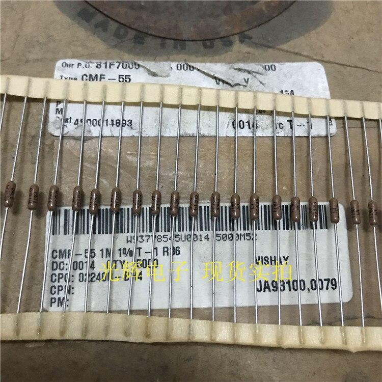 20PCS USA VISHAY DALE CMF-55 1M 1% 1/4W 0.25W T1 Axial Resistance Low Noise Precision Metal Film Resistors CMF55 1 Megohm RN55