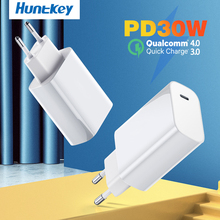 Huntkey EU PD Charger 30W USB Type C Fast Charger for iPhone 12 11 XR Xs Macbook Quick Charge 4.0 3.0 QC PD for Samsung HUAWEI