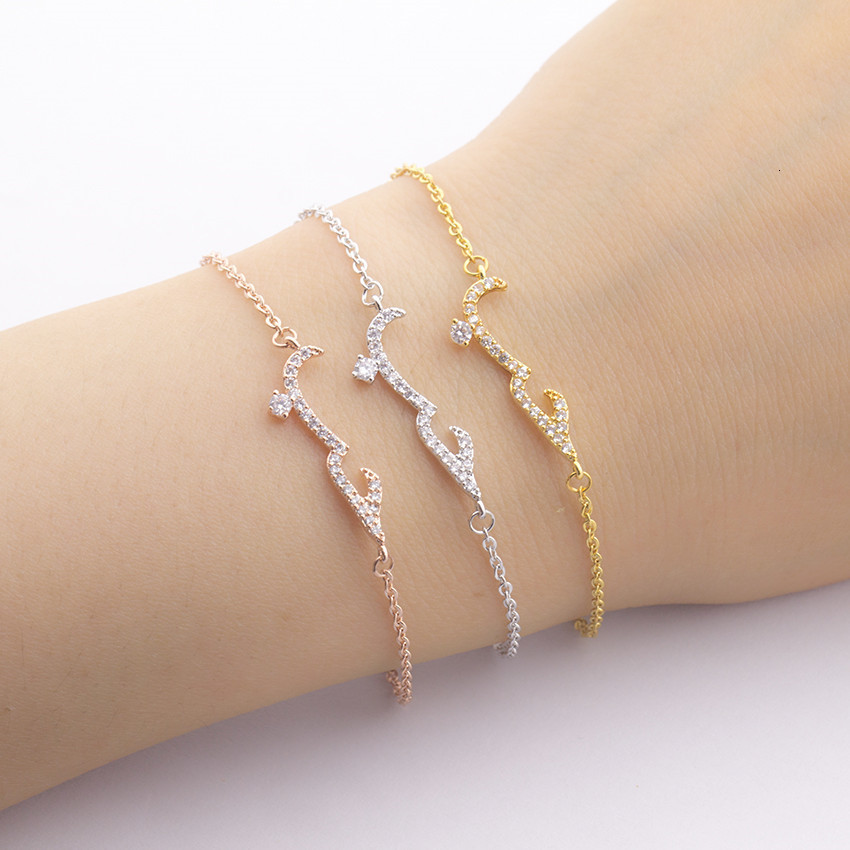 Boho Jewelry CZ Arabic Name Love Couple Bracelet Femme Islamic Crystal Friendship Bracelets For Women Pulseras Hombre BFF Gifts