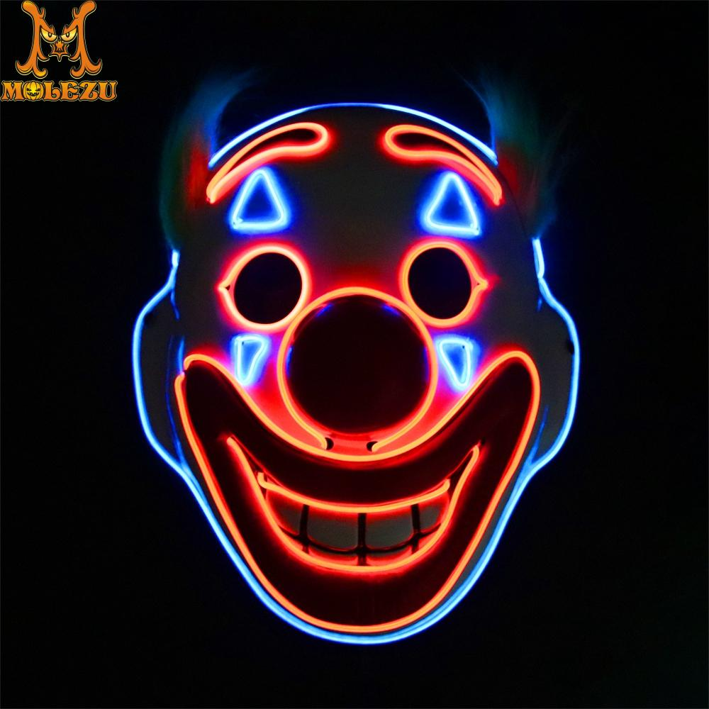 Molezu Halloween Joker Mask Arthur Fleck Cosplay Movie Clown Costumes Props Halloween Easter Party Mask image