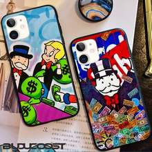 Dollar Diktator Cartoon Schwarz Handy Fall Für Iphone 11 Pro 11 Pro Max X XR XS MAX 7 8 plus 6s Plus 5s 2020 Se Abdeckung(China)