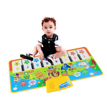 Children'S Music Carpet Toys Animal Piano Music Blanket Press Play Music Toys Educational Multicolor Piano Music Sound Blanket B(China)