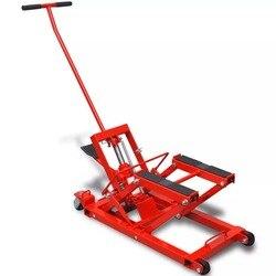 Motocicleta hidráulica vidaXL/gato ATV 680 kg, herramienta de reparación de equipos de gatos de elevación de Motor rojo