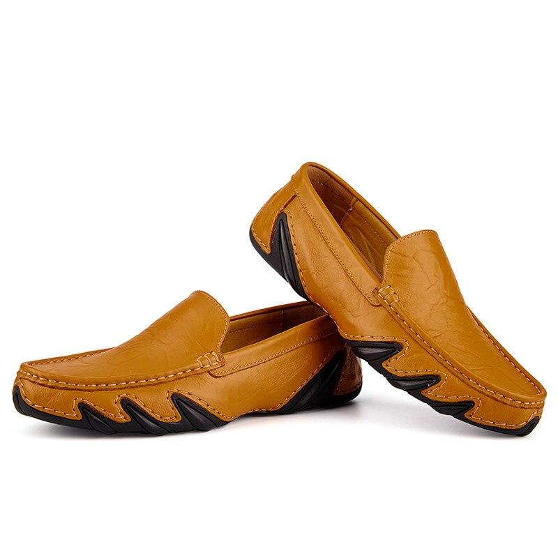 Casual Men Leather Shoes Boat Man's shoe Loafers Mocassin Men's loafer Man Slipons Moccasins Hot Sale Driving Brand Desinger 6