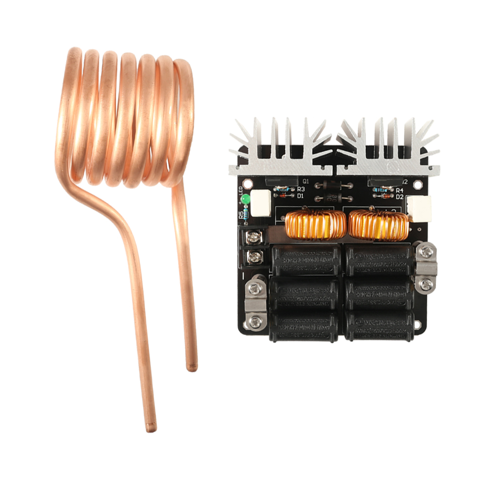 1000W ZVS Low voltage induction heating board module//Tesla coil