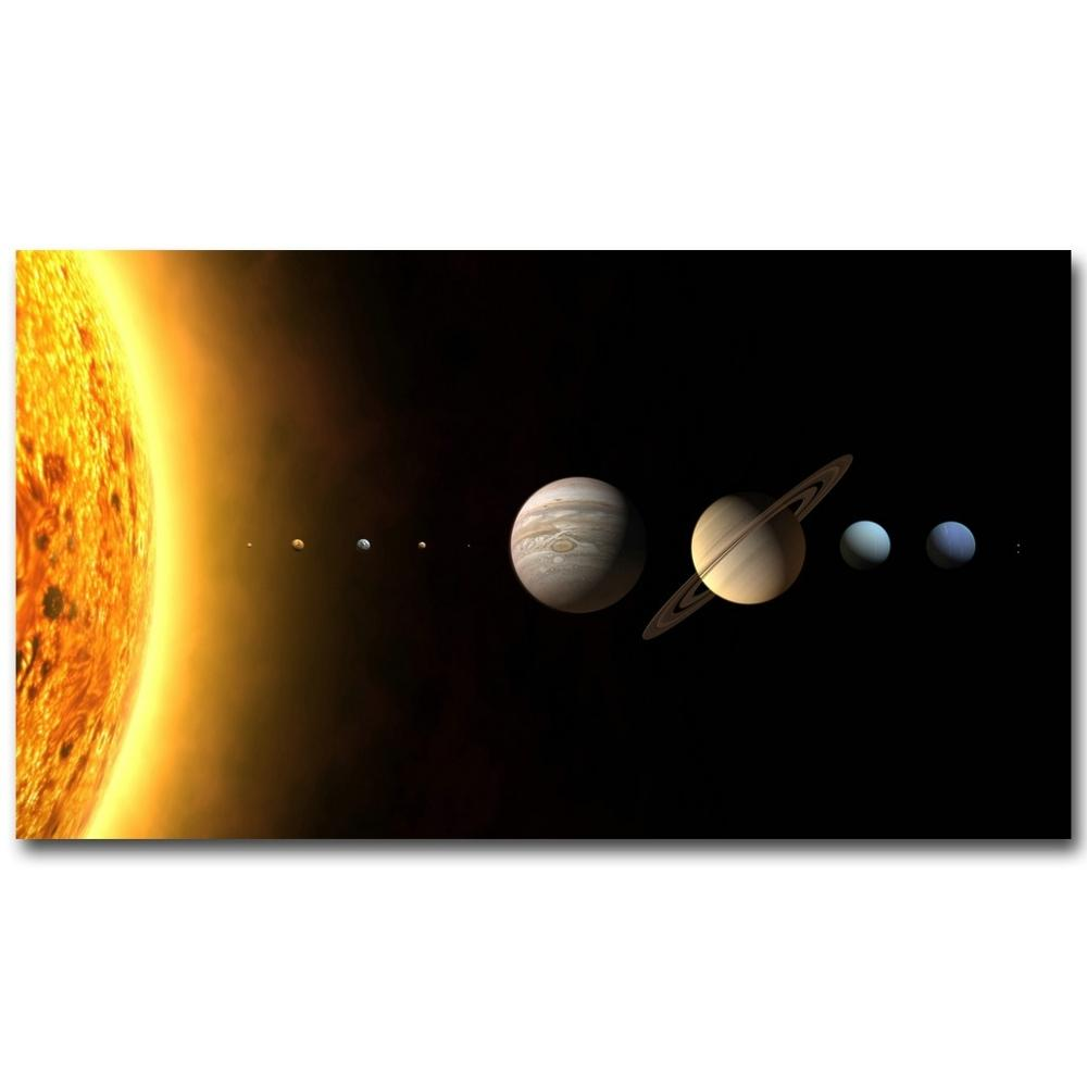 Molek Milky Solar System Way Universe Galaxy Art Silk Poster Print Outer Space Picture for Room Wall Decoration