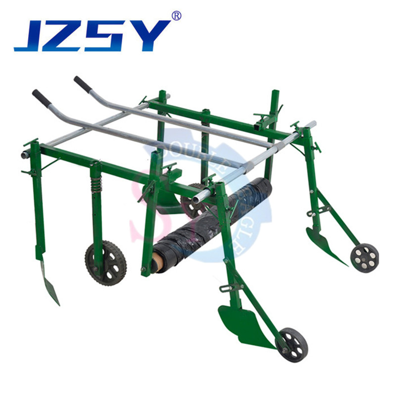 Agriculture cheap hand pull plastic mulched corn machine/human manual plastic mulch layer plastic small laying agricultural tool