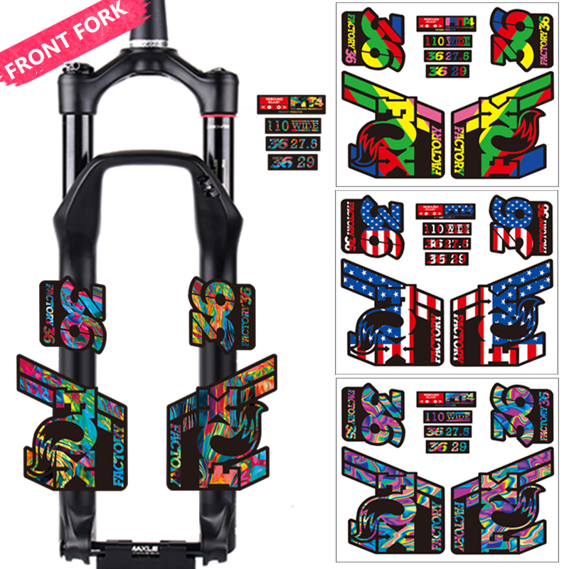 DIY Fox Float 36 Mountain Bike Front Fork Stickers Bicycle Fox36 Front Fork Decals MTB Bike Decal Protective Waterproof Films