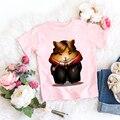 Милая футболка для маленьких мальчиков от 24 до 9 лет, летние детские шорты с героями мультфильмов с изображением Гарри, совы, животных, топы д...