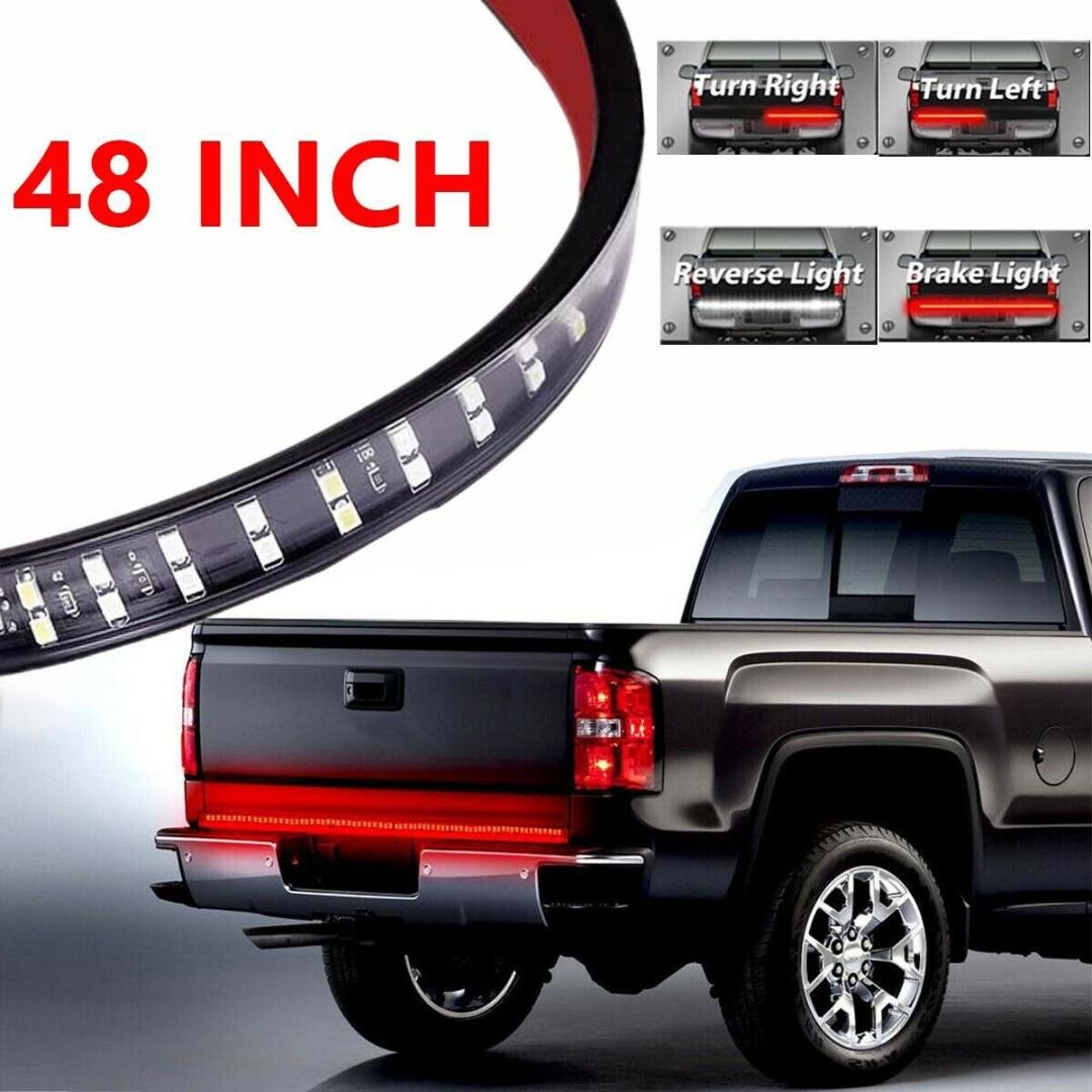 1pc 48 Zoll Lkw Rote LED Heckklappe Licht Blinker Licht Streifen Bar Bremse Backup Weiß Umge Licht Für chevy Honda Ram Lkw