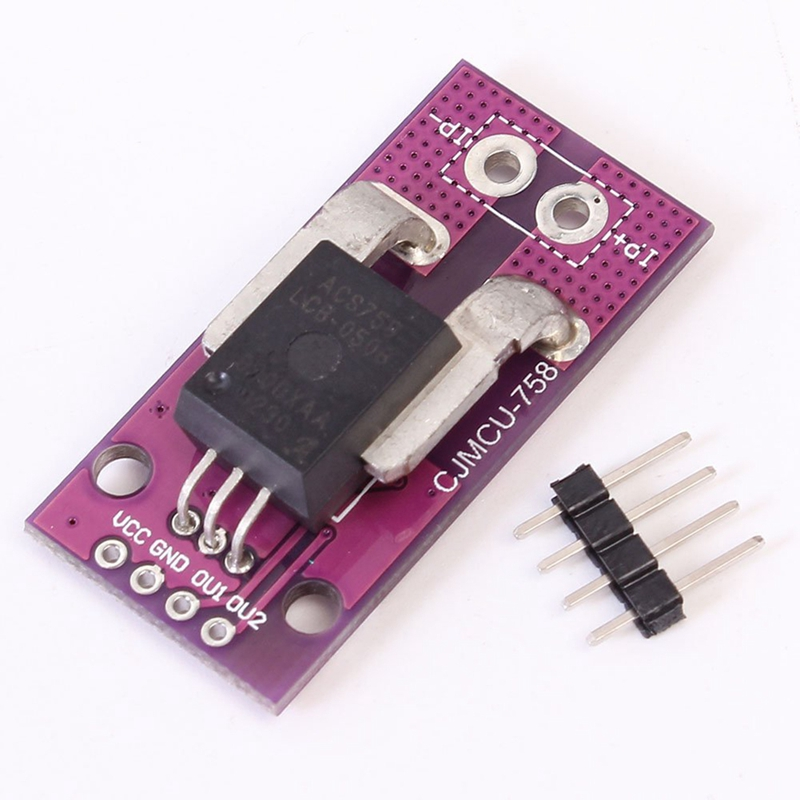 ACS758LCB 50A Range Linear Current Sensor Analog Signal Output For Arduino Hall Effect Based Purple