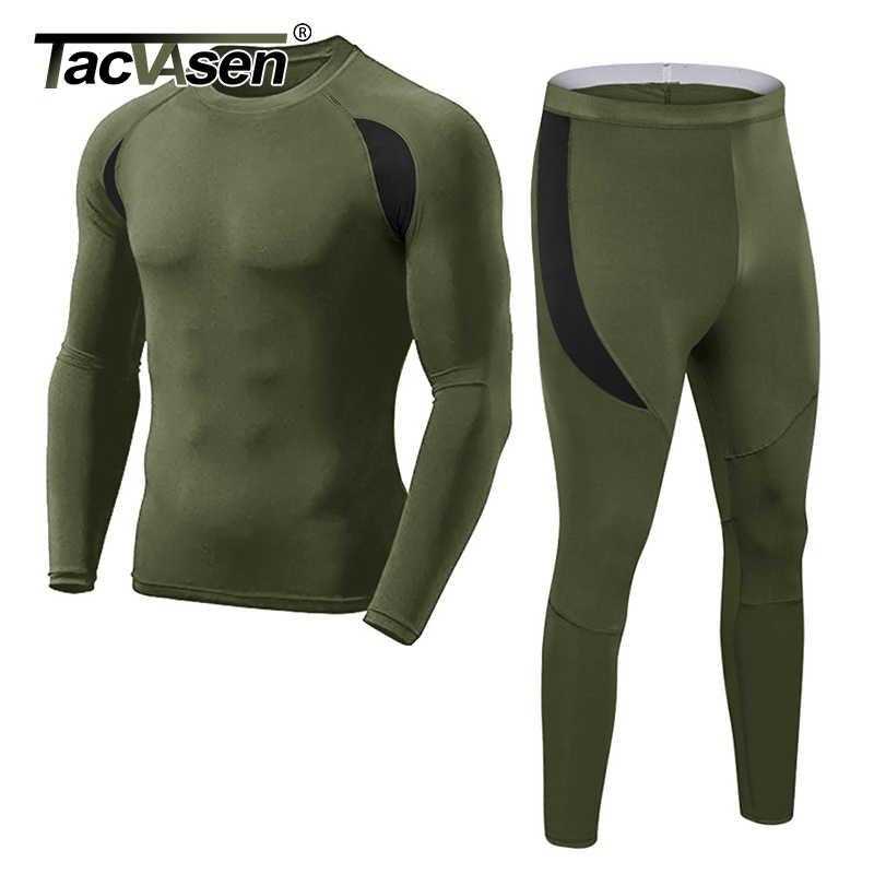 TACVASEN hombres de lana táctico uniformes de invierno conjuntos de ropa interior de ejército militar Polartec de compresión de conjuntos de ropa interior suave