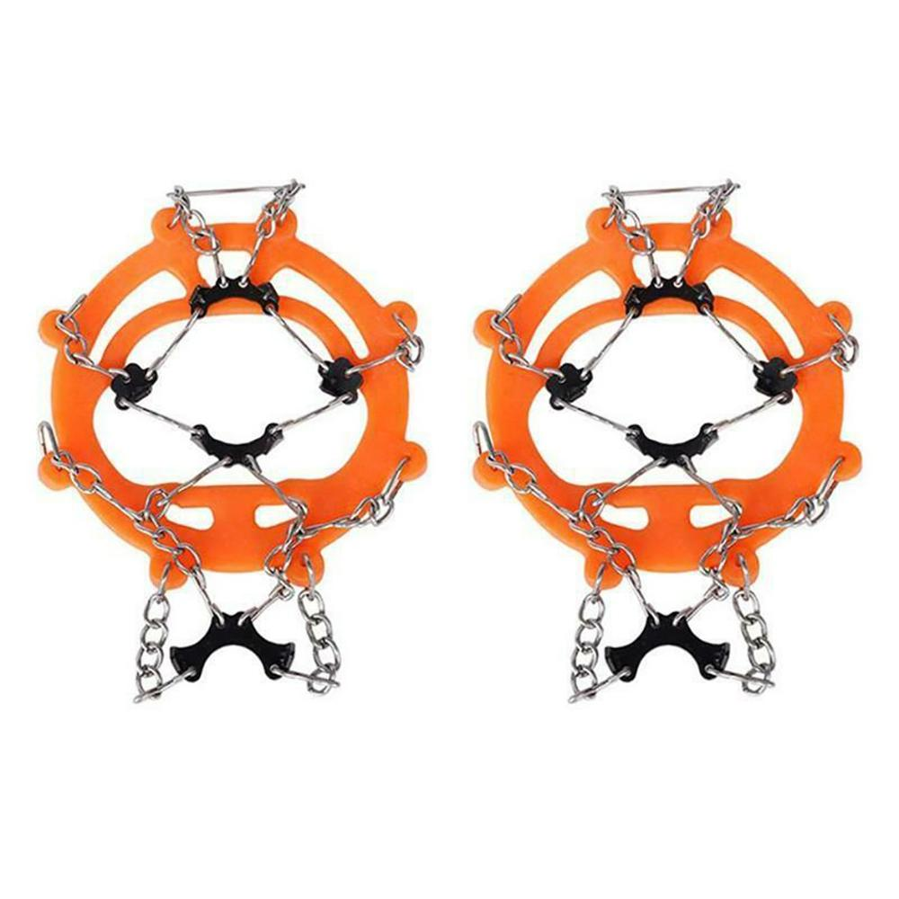 Anti Slip 8-Teeth Ice Snow Shoes Spike Grip Boots Chain Crampons Grippers