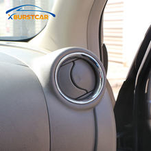 Xburstcar Mobil Styling untuk Nissan Micra Maret K13 2011 2012 2013 2014 2015 2016 2017 Chrome A/C Air ventilasi Ring Cover Trim Frame(China)