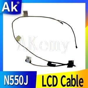 Novo Cabo Laptop LCD Para ASUS N550 N550JA N550JV N550JK N550JL N550LF Cabos Flex 14005-00910600 14005-00910100