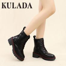 Kulada/женские ботинки; Высококачественные ботинки martens из