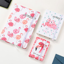 Trendy Bullet Journal Flamingo Notebook a5 Creative Journaling Book Stationery Diary Planner Graffiti Bujo creative literary notebook stationery nostalgic youth diary book hardcover horizontal line paper planner dd1352
