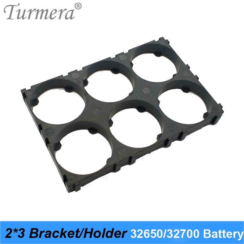 <font><b>32650</b></font> 32700 2*3 <font><b>Battery</b></font> <font><b>Holder</b></font> <font><b>Bracket</b></font> Cell Safety Anti Vibration Plastic <font><b>Brackets</b></font> For <font><b>32650</b></font> 32700 <font><b>Battery</b></font> Pack 8pieces Turmera image