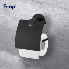 Frap Stainless Steel Kitchen Bathroom Towel Dispenser Toilet Black Paper Holder Bathroom Accessories F30203