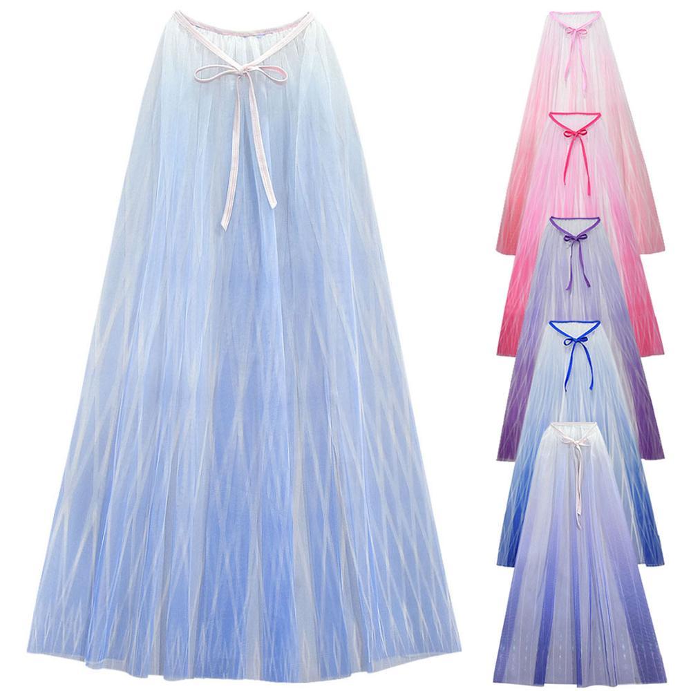 Disney Frozen 2 Figure Toys Anna Elsa Cosplay Cloak Princess Girl Dress Halloween Carnival Costume Children Party Clothing Gift|Action & Toy Figures| - AliExpress
