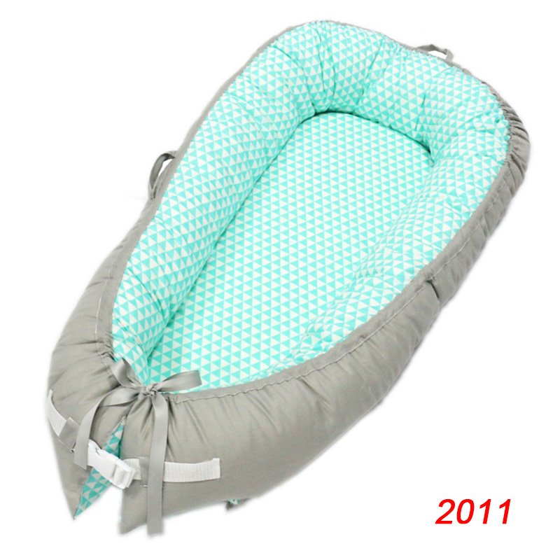 Cotton Portable Travel Infant Bed Cribs Bassinet Baby Nest For Baby Lounger Breathable Folding Bed  M09