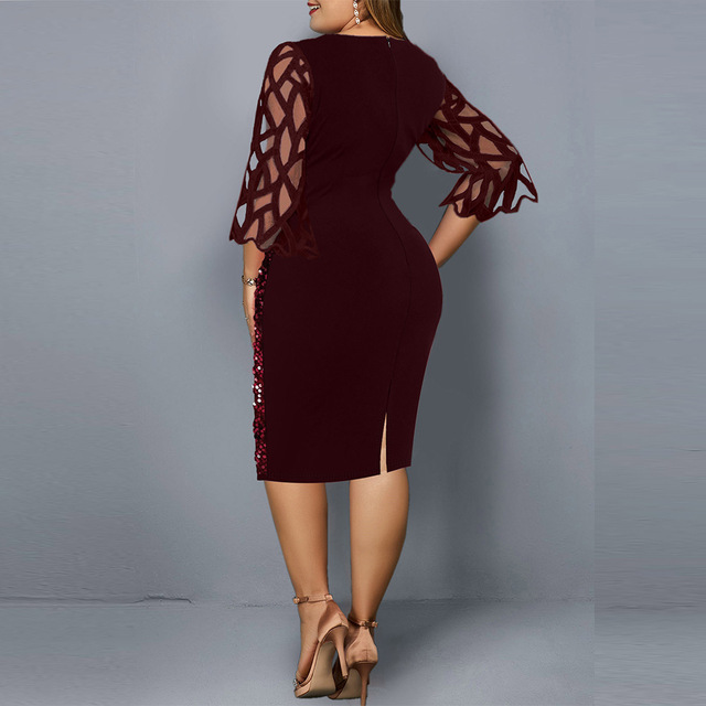Sexy Plus Size Women's Party Dress Birthday Outfit 2